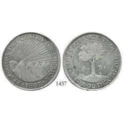 Guatemala, 8 reales, 1847A.