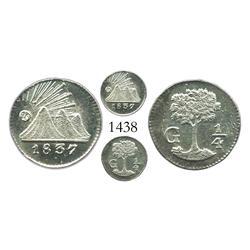 Guatemala, 1/4 real, 1837-G.
