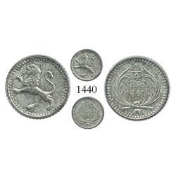 Guatemala, 1/4 real, 1861.