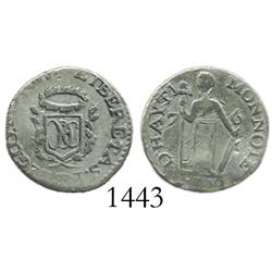 Haiti (State of North Haiti), 7 sols 6 deniers, 1809, rare.
