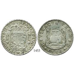 Mexico City, Mexico, pillar 8 reales, Ferdinand VI, 1753MF, with New South Wales (Australia) attempt
