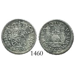 Mexico City, Mexico, pillar 1 real, Charles III, 1762M.