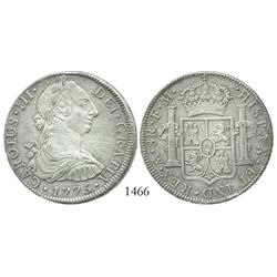 Mexico City, Mexico, bust 8 reales, Charles III, 1775FM.