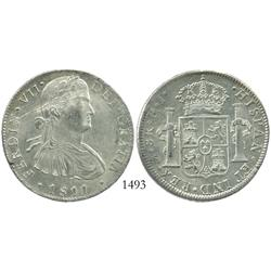 Mexico City, Mexico, bust 8 reales, Ferdinand VII, 1811HJ.