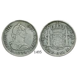 Mexico City, Mexico, bust 4 reales, Charles III, 1774FM.