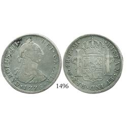 Mexico City, Mexico, bust 4 reales, Charles III, 1776FM, desirable date.