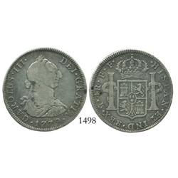 Mexico City, Mexico, bust 4 reales, Charles III, 1779FF.