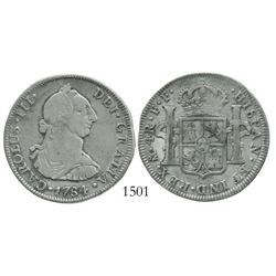 Mexico City, Mexico, bust 4 reales, Charles III, 1784FF.