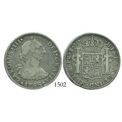 Mexico City, Mexico, bust 4 reales, Charles III, 1786FM.