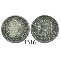 Mexico City, Mexico, bust 1/2 real, Charles III, 1776FM, desirable date.