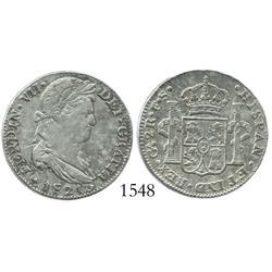 Guadalajara, Mexico (War of Independence), 2 reales, Ferdinand VII, 1821FS, rare.