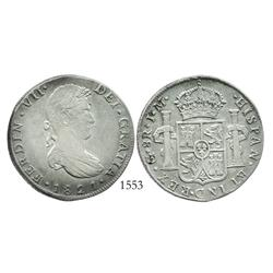 Guanajuato, Mexico (War of Independence), 8 reales, Ferdinand VII, 1821JM.