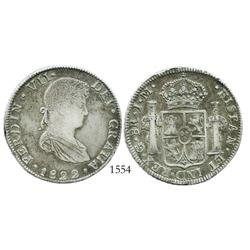 Guanajuato, Mexico (War of Independence), 8 reales, Ferdinand VII, 1822JM.