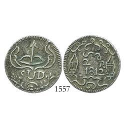 Oaxaca (SUD/Morelos), Mexico, silver 2 reales, 1812, rare.