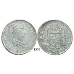 Zacatecas, Mexico (War of Independence), 8 reales, Ferdinand VII, 1822RG.