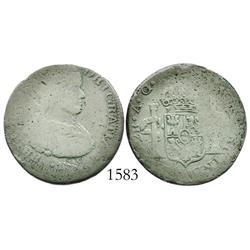 Zacatecas, Mexico (War of Independence), 2 reales, Ferdinand VII, 1818AG, large armored bust.