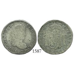 Zacatecas, Mexico (War of Independence), 2 reales, Ferdinand VII, 1821RG.