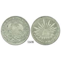 Guanajuato, Mexico, 4 reales, 1846/5PM.