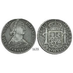 Lima, Peru, bust 8 reales, Ferdinand VII ( imaginary bust ), 1811JP.