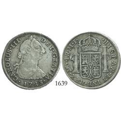 Lima, Peru, bust 4 reales, Charles III, 1783MI.