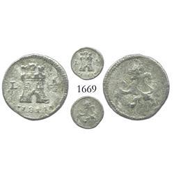 Lima, Peru, 1/4 real, Ferdinand VII, 1811.