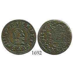 Cordoba, Spain, copper 16 maravedis, Philip IV, 1664T.