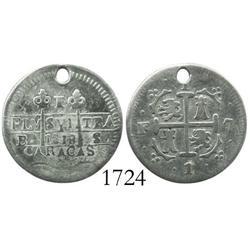 Caracas, Venezuela, 1 real, 1818BS, rare.