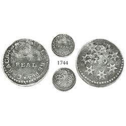 Caracas, Venezuela, 1 real, (Ano 2 = 1811-12), extremely rare.