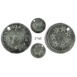 Caracas, Venezuela, 1/2 real, Ano 2 (1811-12), extremely rare.