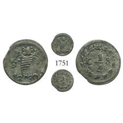 Caracas, Venezuela, 1/4 real, 1830, scarce.