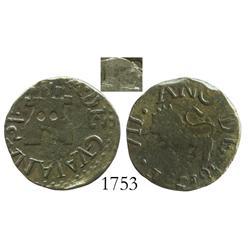 Guayana, Venezuela, copper 1/2 real, 1815.