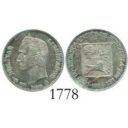 Venezuela (Paris), 1/4 bolivar, 1894-A.