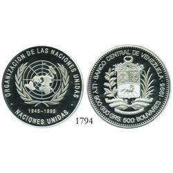 Venezuela (Canada), proof 500 Bolivares, 1995, United Nations.