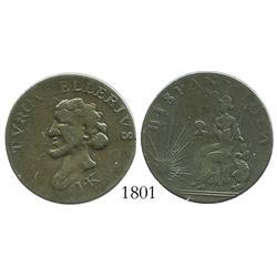 Dominican Republic (French control, 1795-1808), copper HISPANNIOLA/ TVRCVPELLERIVS token struck by B