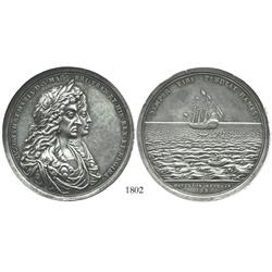 Great Britain, silver Phipps medal, James II, 1687, choice condition.