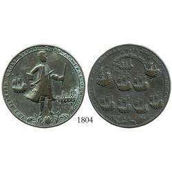 Great Britain, copper Admiral Vernon medal, Chagre/Porto Bello (1740).