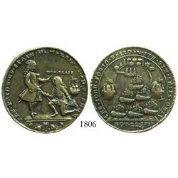 Great Britain, brass Admiral Vernon medal, (Cartagena)/Porto Bello (1741).