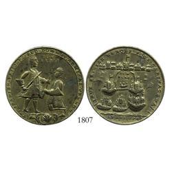 Great Britain, brass Admiral Vernon medal, Cartagena, 1747.