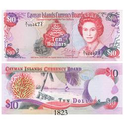 Cayman Islands Currency Board, ten dollars, 1996 experimental paper (X/1 note), rare.
