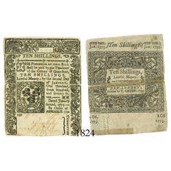 Connecticut, 10 shillings, 1775.