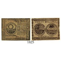Maryland (Baltimore), 30 dollars, 1777, PMG Choice About Unc-58 Exceptional Paper Quality.