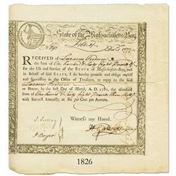 Massachusetts, 168 pounds 3 shillings, 1777.