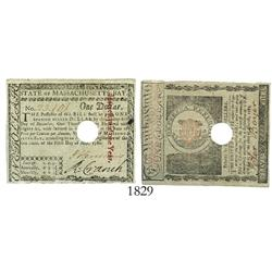 Massachusetts, 1 dollar, 1780.