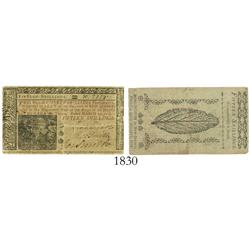 New Jersey (under Great Britain), 15 shillings, 1776.