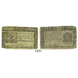 New York, 1 dollar, 1776.