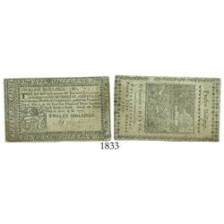 Pennsylvania, 12 shillings, 1777.