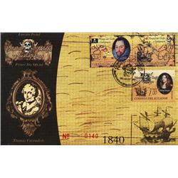 Ecuador, 2006 set of 3 stamps (40c, 40c and $1) on a glossy FDC envelope (limited edition number 140