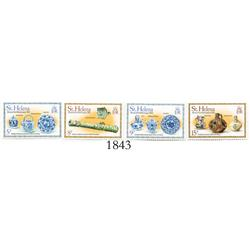 St. Helena, 1978 set of 4 stamps (5p, 8p, 9p and 15p, all depicting artifacts from the wreck) commem
