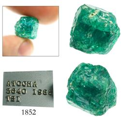 Large, natural, dark-green emerald, 10.52 carats.
