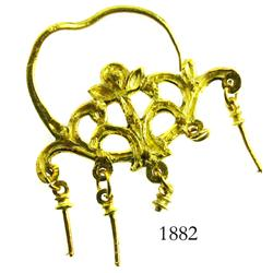 Ornate gold filigree earring (smaller).